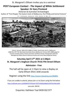 Post European contact – the impact of white settlement @ St Margaret's Anglican Church | Eltham | Victoria | Australia